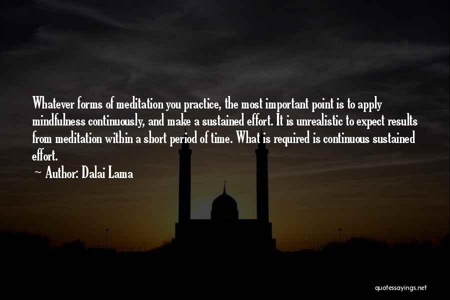 Results And Effort Quotes By Dalai Lama