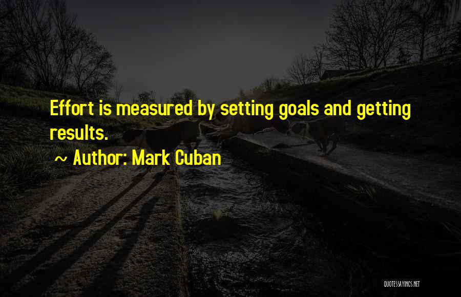 Results And Effort Quotes By Mark Cuban