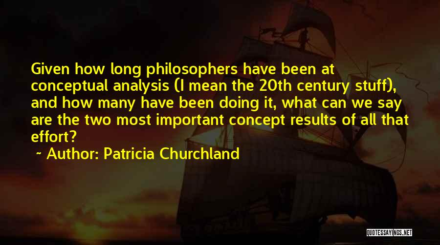 Results And Effort Quotes By Patricia Churchland