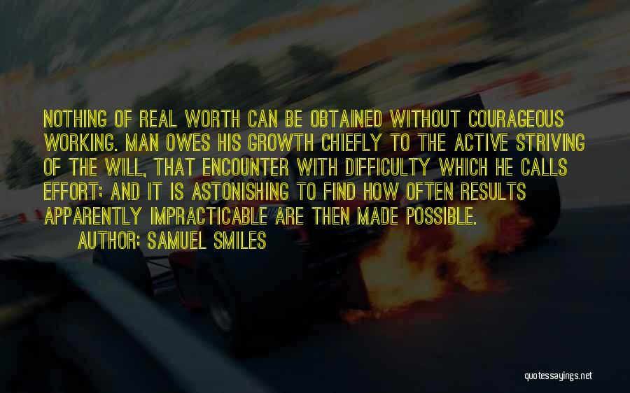 Results And Effort Quotes By Samuel Smiles