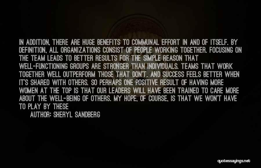 Results And Effort Quotes By Sheryl Sandberg
