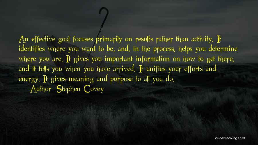 Results And Effort Quotes By Stephen Covey