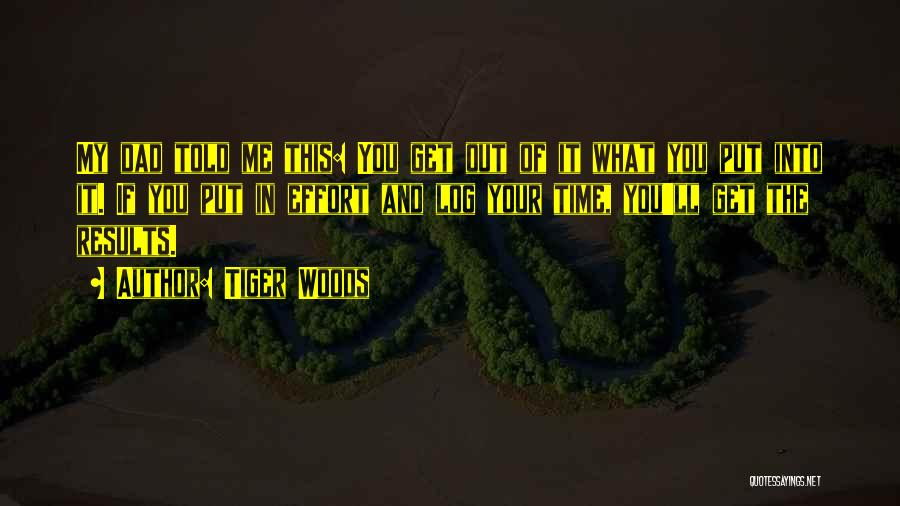 Results And Effort Quotes By Tiger Woods