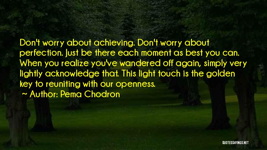 Reuniting With An Ex Quotes By Pema Chodron