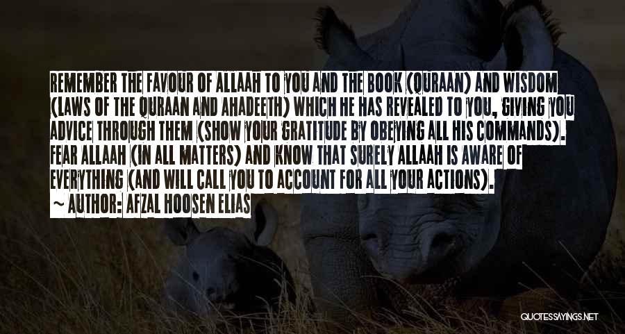 Revealed Quotes By Afzal Hoosen Elias