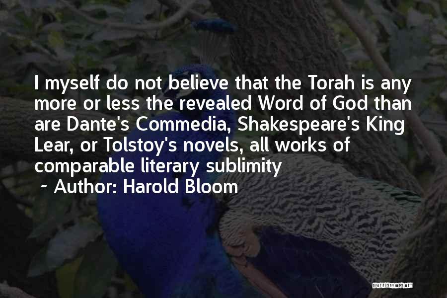 Revealed Quotes By Harold Bloom