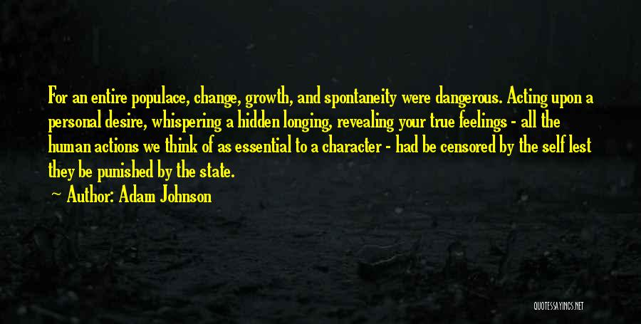 Revealing Your Feelings Quotes By Adam Johnson