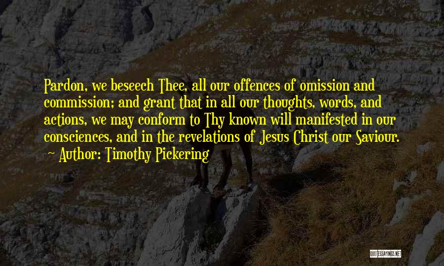 Revelations Quotes By Timothy Pickering