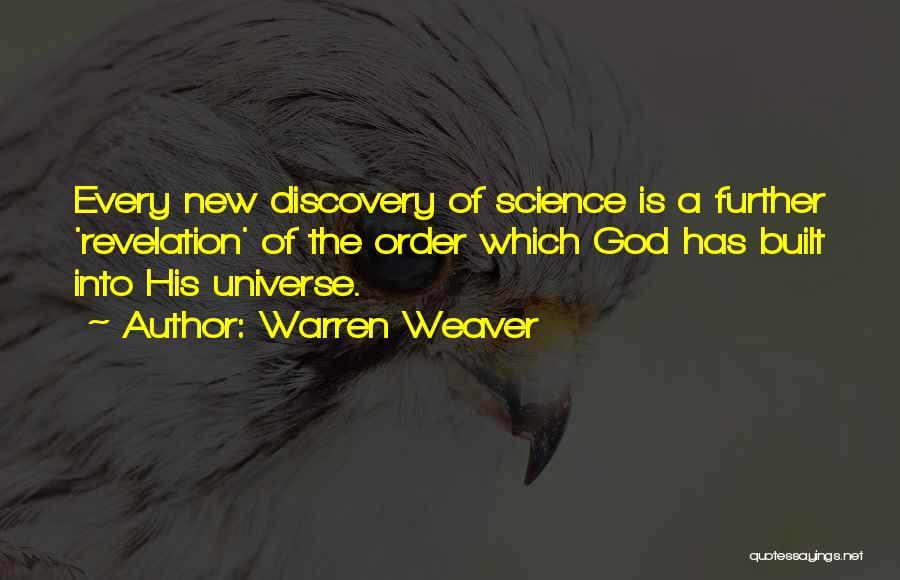 Revelations Quotes By Warren Weaver