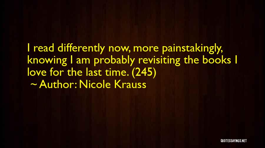 Revisiting Quotes By Nicole Krauss