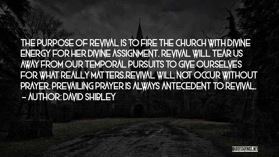 Revival Fire Quotes By David Shibley