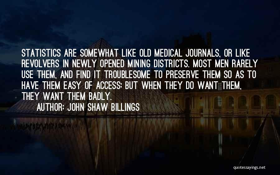 Revolvers Quotes By John Shaw Billings