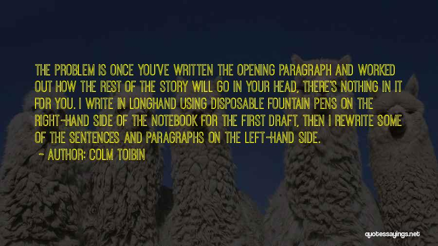 Rewrite Your Story Quotes By Colm Toibin