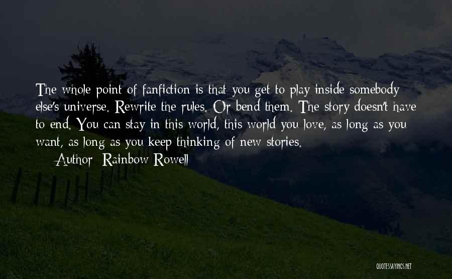 Rewrite Your Story Quotes By Rainbow Rowell