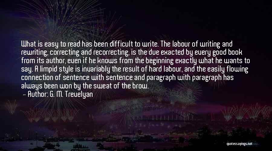 Rewriting Quotes By G. M. Trevelyan