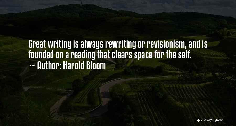 Rewriting Quotes By Harold Bloom