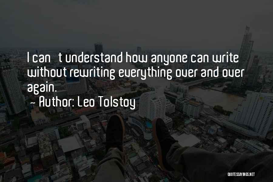 Rewriting Quotes By Leo Tolstoy
