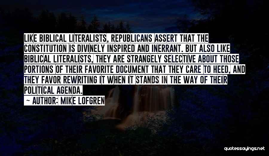 Rewriting Quotes By Mike Lofgren