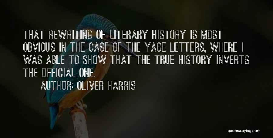 Rewriting Quotes By Oliver Harris