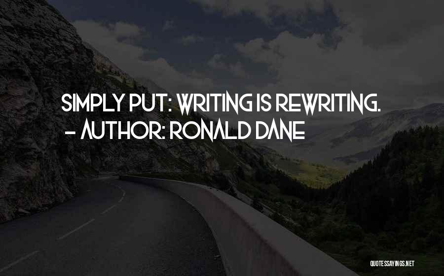 Rewriting Quotes By Ronald Dane