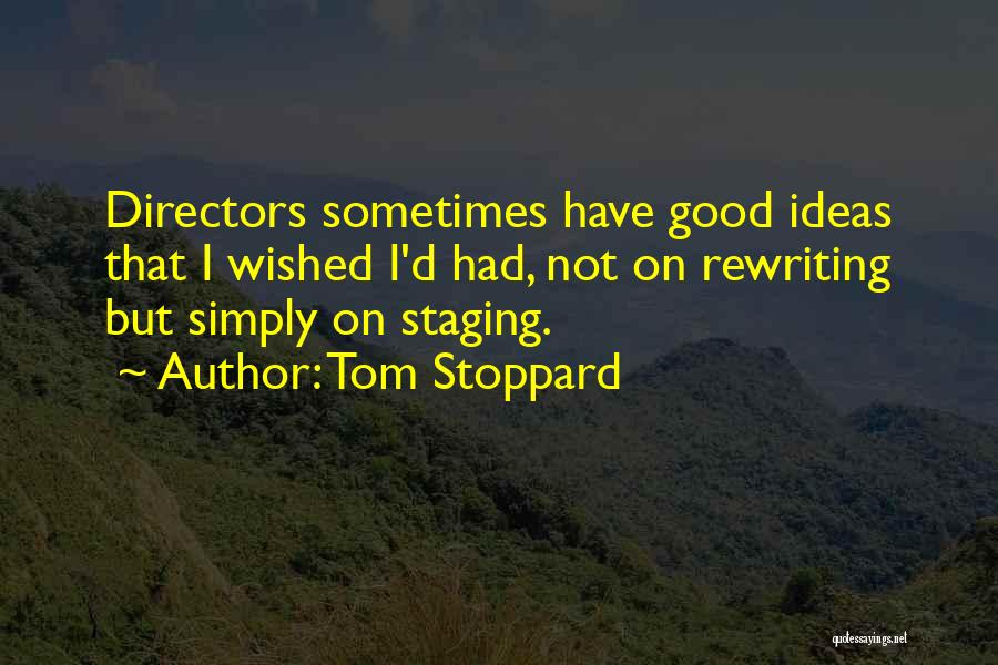 Rewriting Quotes By Tom Stoppard