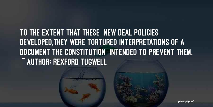 Rexford Tugwell Quotes 432313
