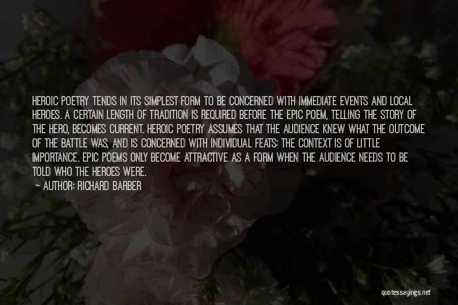 Richard Barber Quotes 822967