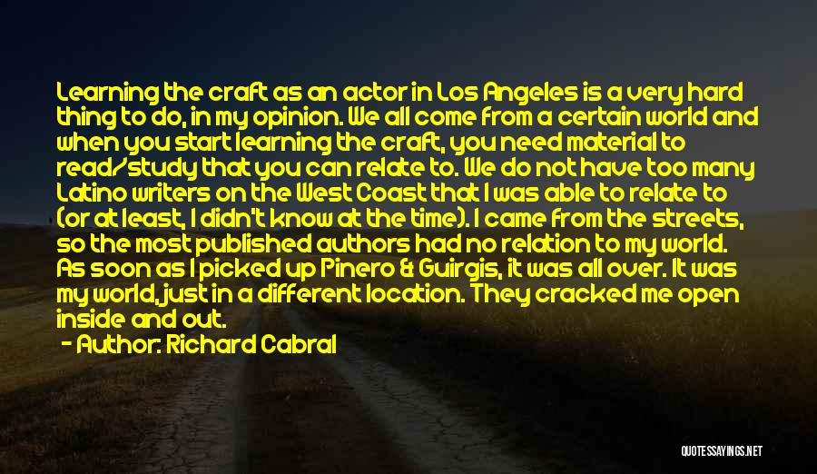 Richard Cabral Quotes 1676024
