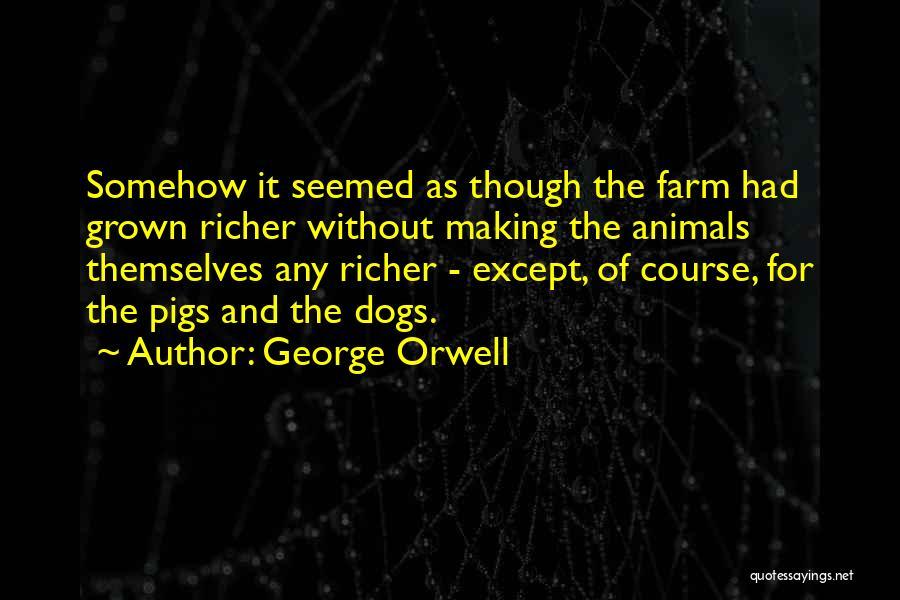 Richer Quotes By George Orwell