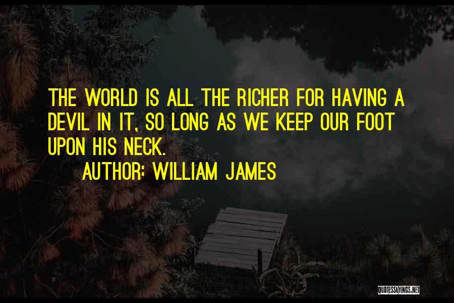 Richer Quotes By William James