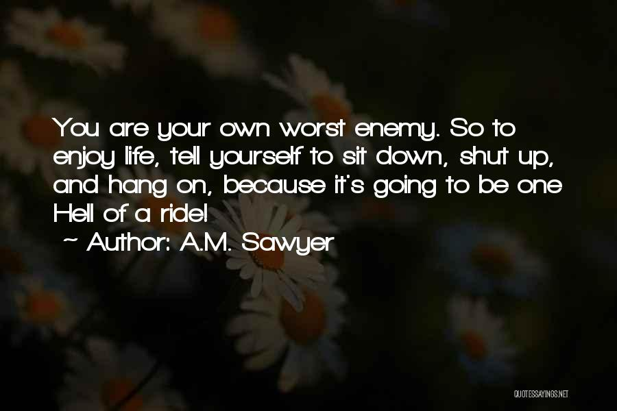 Ride To Hell Quotes By A.M. Sawyer