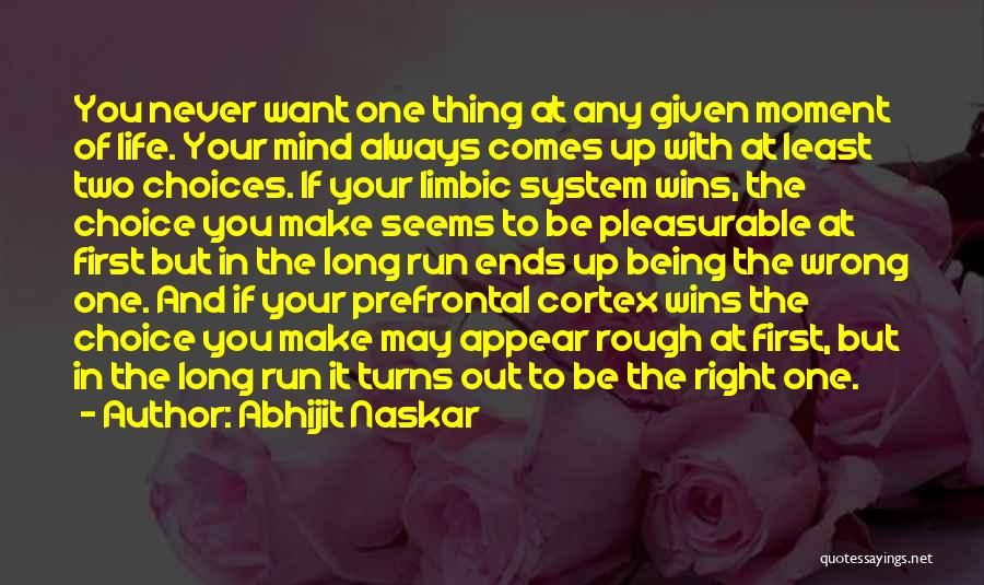 Right And Wrong Choices Quotes By Abhijit Naskar