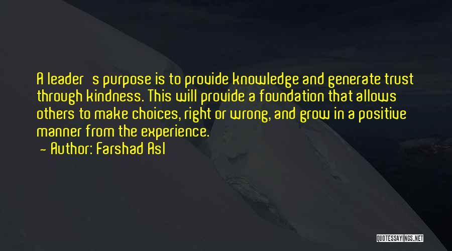 Right And Wrong Choices Quotes By Farshad Asl