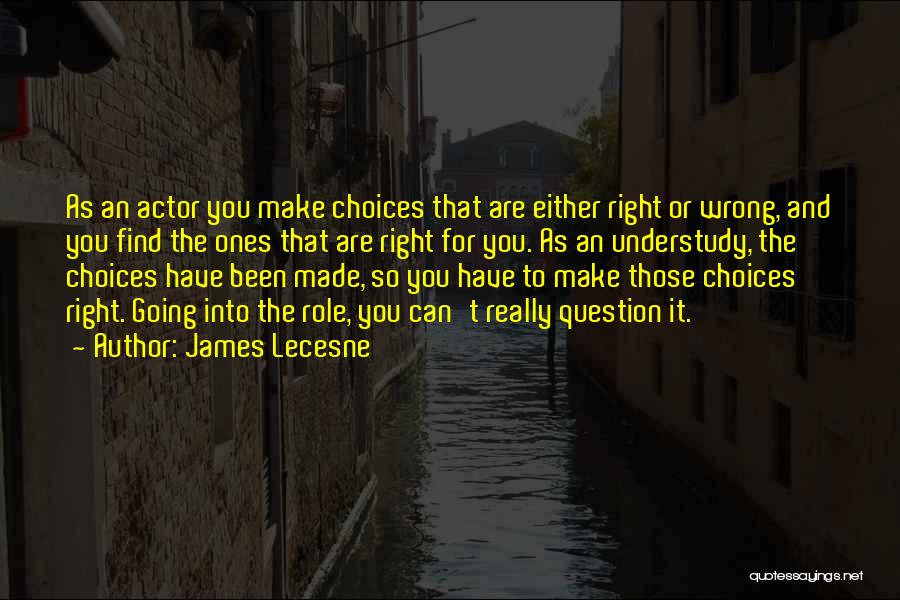 Right And Wrong Choices Quotes By James Lecesne