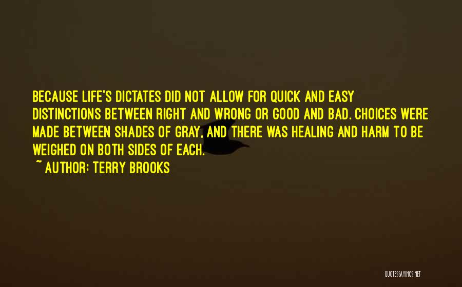 Right And Wrong Choices Quotes By Terry Brooks