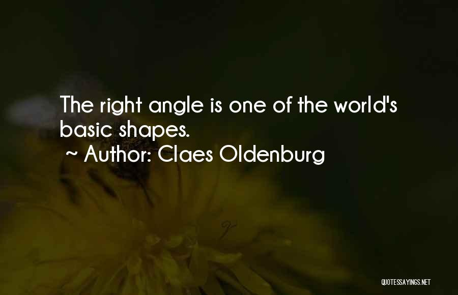 Right Angle Quotes By Claes Oldenburg