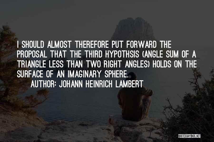 Right Angle Quotes By Johann Heinrich Lambert