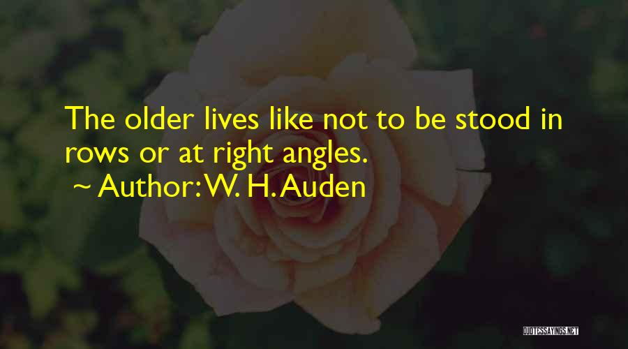 Right Angle Quotes By W. H. Auden