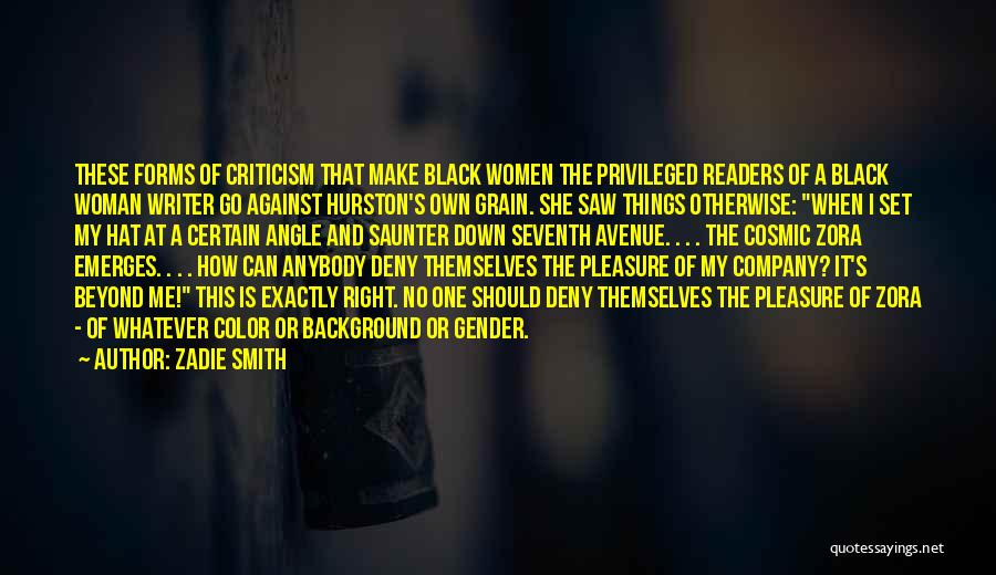 Right Angle Quotes By Zadie Smith