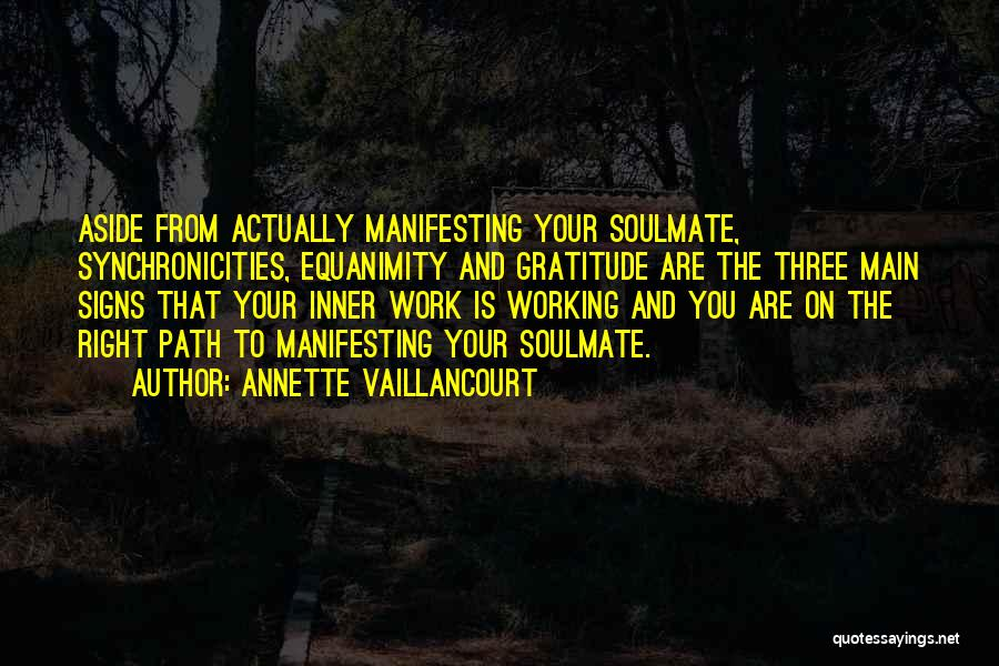 Right Path Quotes By Annette Vaillancourt