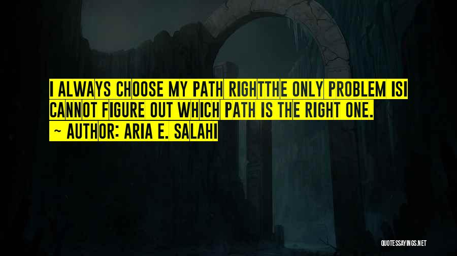 Right Path Quotes By Aria E. Salahi