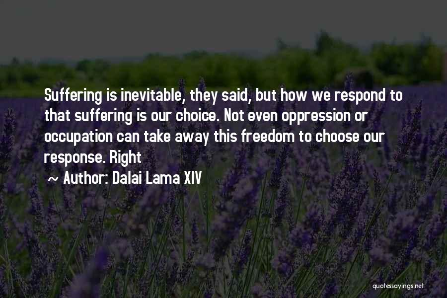 Right To Choose Quotes By Dalai Lama XIV
