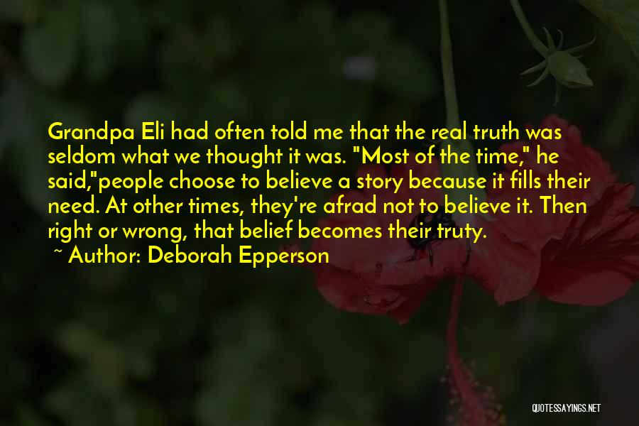 Right To Choose Quotes By Deborah Epperson