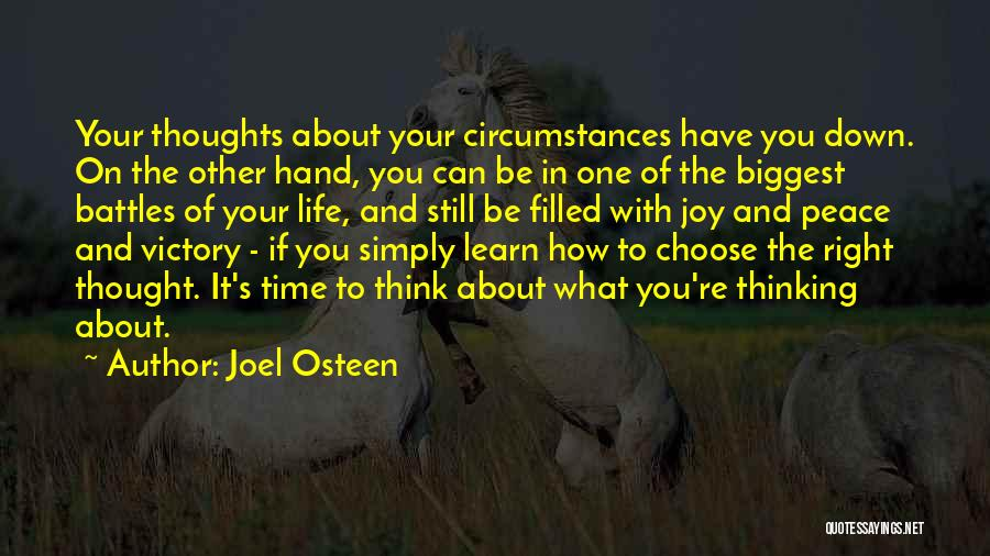 Right To Choose Quotes By Joel Osteen