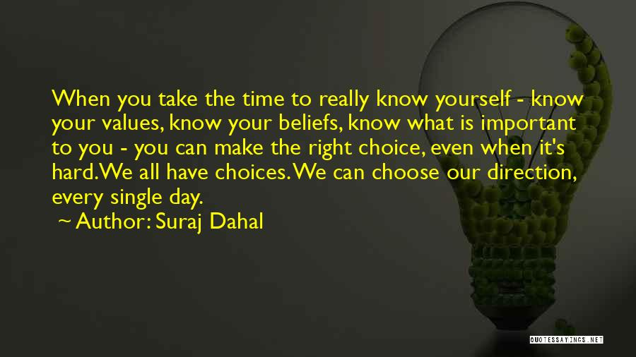Right To Choose Quotes By Suraj Dahal