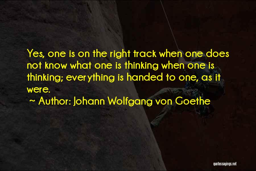 Right Track Quotes By Johann Wolfgang Von Goethe