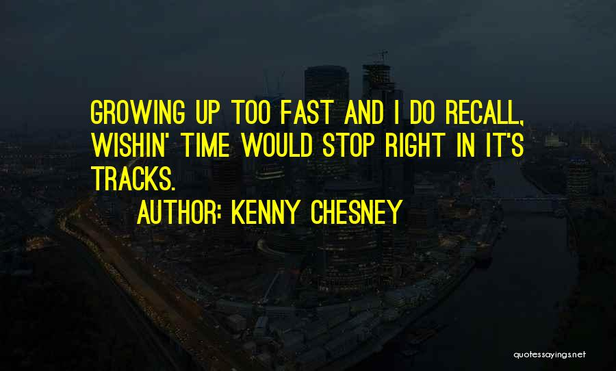 Right Track Quotes By Kenny Chesney
