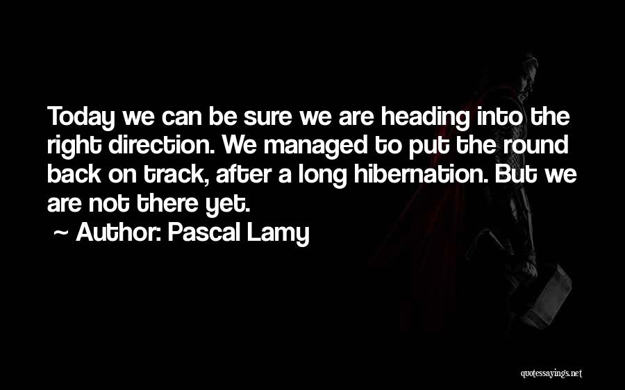 Right Track Quotes By Pascal Lamy