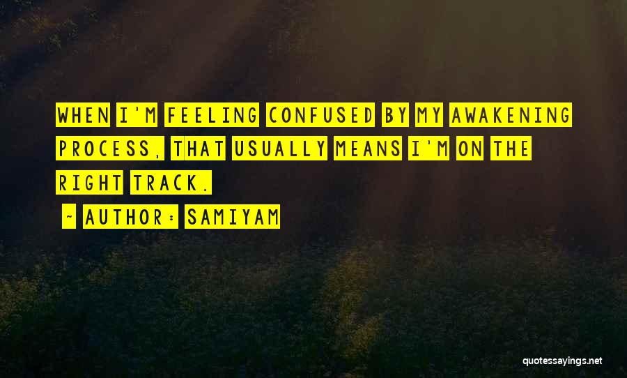 Right Track Quotes By Samiyam