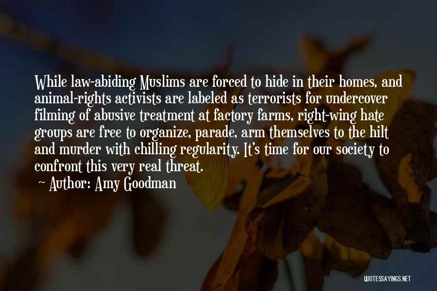 Right Wing Hate Quotes By Amy Goodman